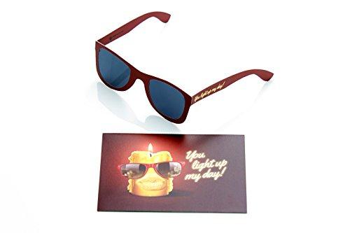 2er Set, Geburtstagskarte mit Sonnenbrille I Glückwunschkarte I Karte zum Geburtstag, Happy Birthday card, lustig, witzig, cool, 30 40 50 60 SUN01
