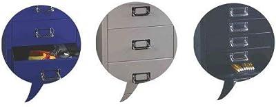 Bisley MultiDrawer, série 39, DIN A4, 15 tiroirs, 355, Argent, 38 x 27,9 x 86 cm