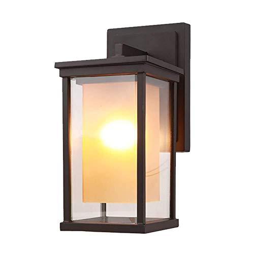 Wandverlichting deur eenvoudige tuin outdoor wandlamp waterdicht schaduwpunt balkon hal Amerikaans licht elegant metalen design