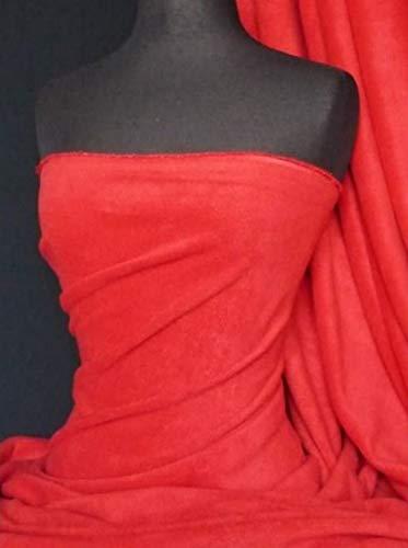 Tela de forro polar antibolitas, material suave, grueso y suave, lavable | 150 cm de ancho | Se vende por metros | 50 colores más (rojo, 1 metro)