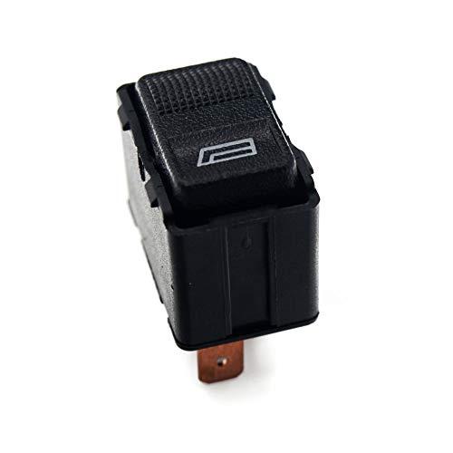 Interruptor DE Mando del Coche Interruptor del elevalunas eléctrico de Color Rojo Claro/Ajuste for Audi A6 C4 V8 Quattro 80 B3 B4 90 100 Coupe Cabriolet (Color : Black)