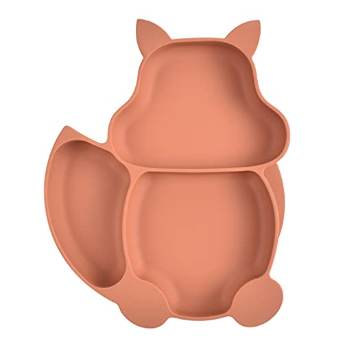 MONLEYTA Cuenco de lechón Dividido para bebés de Silicona Platos de alimentación para Aprendizaje Infantil Plato de Cena Y27