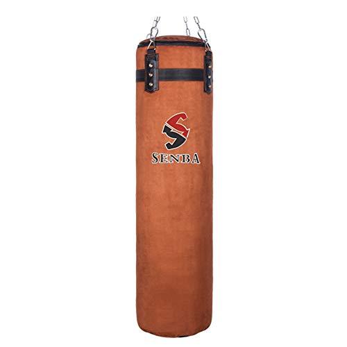 NZKW Wildleder Boxen Boxsäcke Mit Freie Kette Und Armband Kickboxen Boxsack Fitness-Ziel Bodybuilding Fitnessgeräte, Ungefüllt,150cm