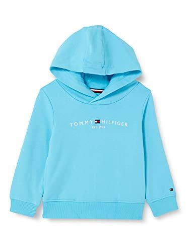 Tommy Hilfiger Essential Hoodie Sweater, Bleu mer, 80 cm Fille