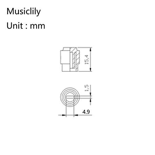 Musiclily Pro Tamaño Pulgadas Botón Selector Pastillas Tipo Telecaster de 3 Posiciones Switch Tips para Guitarra USA Fender Tele, Negro(2 Piezas)