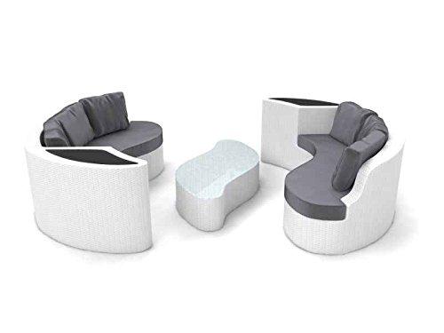 ARTELIA Yamelia Polyrattan Rattaninsel, Loungemöbel für Garten und Terrasse, Lounge weiß