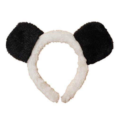 Bandeaux avec des oreilles de panda noir et blanc Alice avec bandeau Déguisement