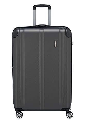 """Travelite Leicht, flexibel, sicher: """"City""""-Hartschalenkoffer für Urlaub und Business (auch mit Vortasche) Koffer, 77 cm, 113 Liter, Anthrazit"""