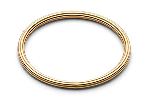 JUKSEREI Damen Ring Rille Gold - Dünner Damenring Silber 925 vergoldet - JUK-RCH265g-51