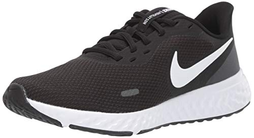 NIKE Revolution 5, Running Shoe Mujer, Black White Anthracite, 40 EU