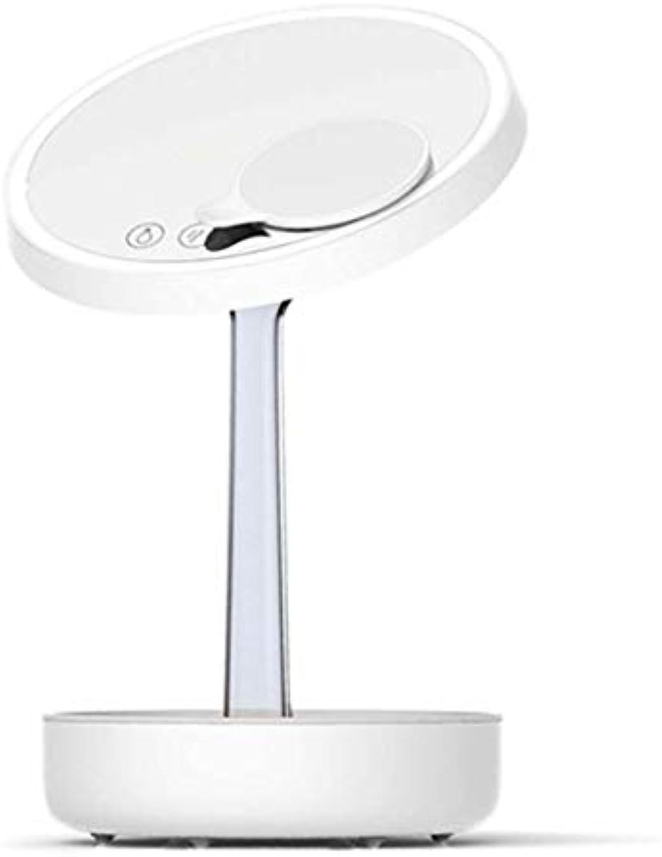 JIAWEI LED-Make-Up-Leuchte Touch-Leseleuchte Zwei Beleuchtungsmodi Stufenloses Dimmen USB-Aufladung, Mit Lupe - 4 Watt,Weiß