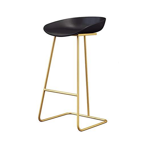 YH bar sgabelli da bar in ferro battuto sgabello da bar dorato sgabello alti alla reception (dimensioni: 65 cm, colore: oro)