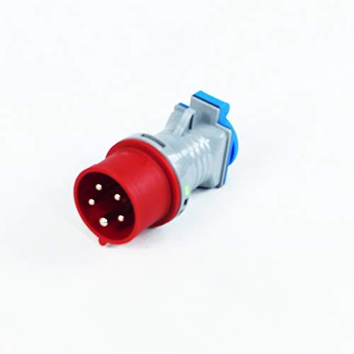 BUZE Adatperstecker CEE 16A 400V IP 44 auf Schuko-Kupplung 230-250V 16A