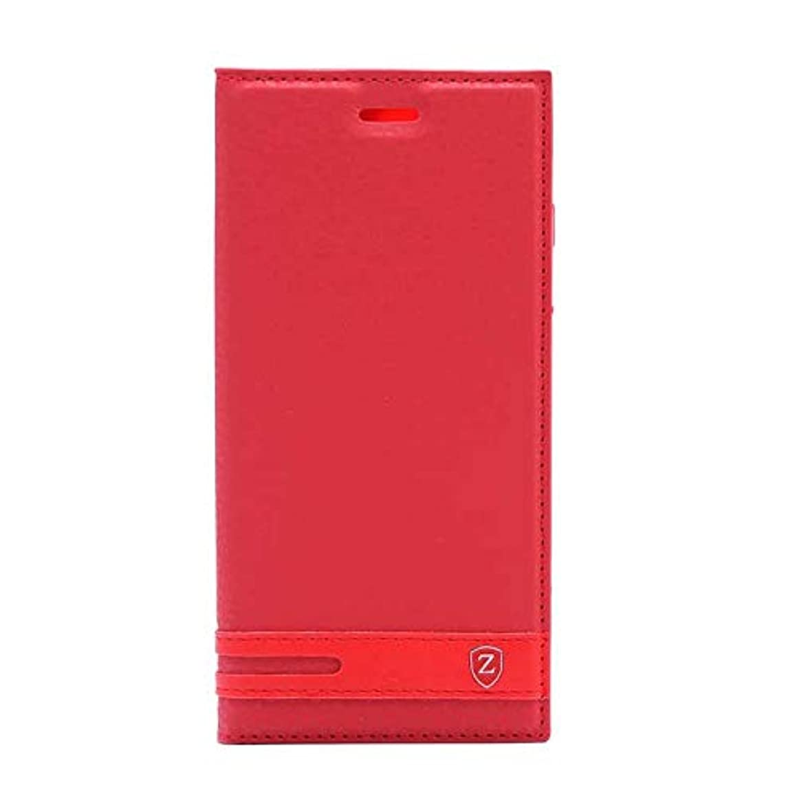 Teleplus for Samsung Galaxy J7 Duo Magnet Clamshell Case Red + Nano Screen Protector