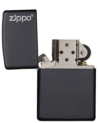 Zippo Logo Black Matte Pocket Lighter