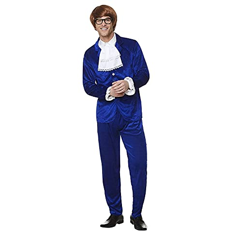 Karnival 82239 1960's Mr Mojo Costume, Men, Blue, Medium