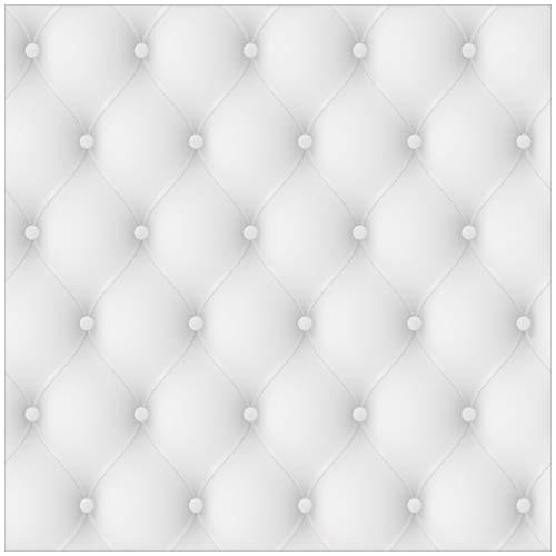 Wallario Möbeldesign/Aufkleber, geeignet für IKEA Lack Tisch - Weiße Ledertür in 55 x 55 cm