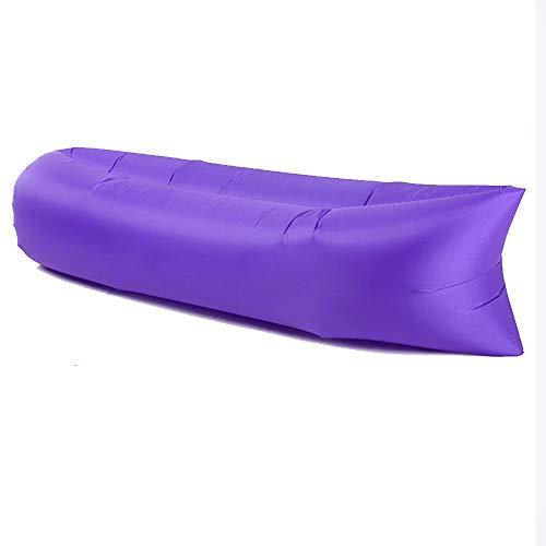 DWHJ Aufblasbare Lehnstuhl, beweglich Luft Sofa Folding Schneller Aerated, Geeignet für Außen Sandy Beach Courtyard Lawn,Lila