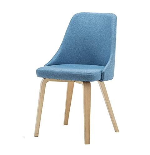 Home Barhocker Barhocker Simple Barhocker Creative Barhocker Barhocker Fashion Barstuhl Leinen Massivholz Lounge Chair Simple Barhocker Hocker für Küchenbar (Color : Blue) (Color : Blue)
