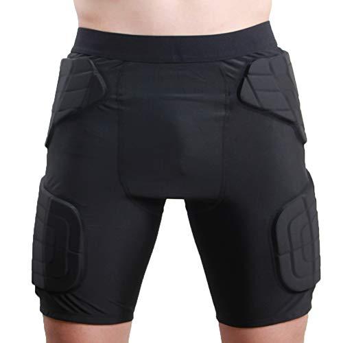 TZTED Snowboard Protektorhose 3D Gepolstert Shorts Schutzhosen für Kinder Herren Damen Kompressions Sport Fahrrad Protektor Shorts für Fahrradhose Hüfte Kurze,M