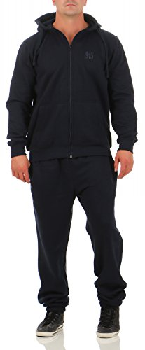 9t5 Jogginganzug Herren Jogger Trainingsanzug Sportanzug Suit 2-teilig dunkelblau 3XL