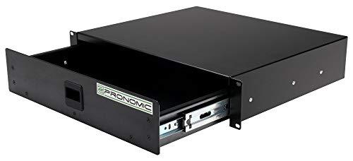 Pronomic RD-102 Rackschublade 2 HE (Schublade für 19 Zoll Rack, Snaplock, Stahlblech) schwarz