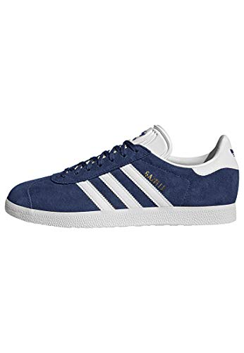 Adidas Originals Men's Gazelle Lace-up Sneaker,Collegiate Navy/White/Gold Met.,10 M US