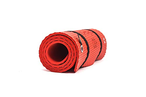 Bootymats - Colchoneta Fitness Multifunción para Todo Tipo de Entrenamiento: Fitness, Pilates, Abdominales, Estiramientos. Medidas: 160 x 60 cm. Grosor: 9 mm. Rojo