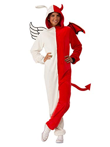 Rubie's Unisex-Adult's Opus Collection Comfy Wear Angel/Demon, Red/White, S-M