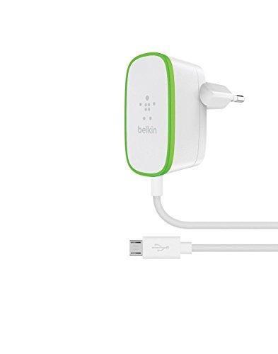 Belkin BoostUp Netzladegerät mit Micro-USB-Kabel (1,8m, 12W, 2,4A, geeignet für Samsung Note9, S10/S10+/S10e und anderer Smartphones / Tablets) weiß