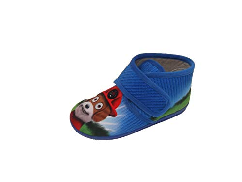 Hausschuhe / Mädchenschuhe / Kinderfahrrad / Laufrad / Froschmaterial / Modell Hund / Gummisohle / einfacher Verschluss, Mehrfarbig - bunt - Größe: 20 EU