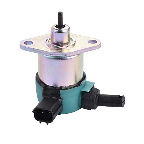 MaySpare Fuel Shut Off Solenoid 17208-60015 17208-60016 17208-60017 17208-60010 Fits Kubota V1205 V1505 V1305 D1105 D1005 D905 Mower Excavator Tractor Generator