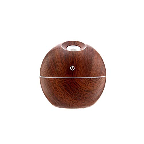 Essential Oil Diffuser, Wooden Grain Aromatherapy Diffuser Aroma Cool Mist Humidifier Ultrasonic Top Filling Air Humidifier with 4 Timers Model with Waterless Auto Shut-Off Protection (Deep Brown)