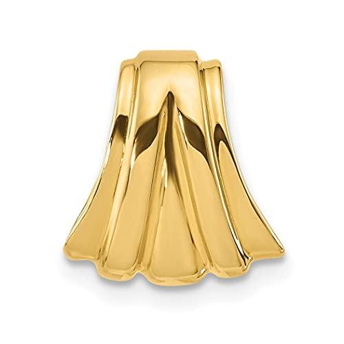 Pulido de 14 quilates que se adapta a hasta 4 mm Regular 5 mm Reversible Omega Slide Joyería Regalos para Mujeres