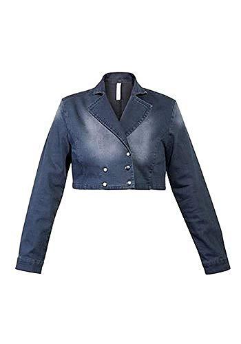 Jeansjacke Jacke Damen von sheego in Dark Grey - Gr. 48