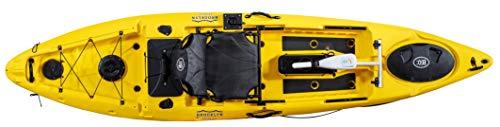 BKC PK12 Angler 12-Foot Sit On Top Solo Fishing Kayak w Trolling Motor (Yellow)
