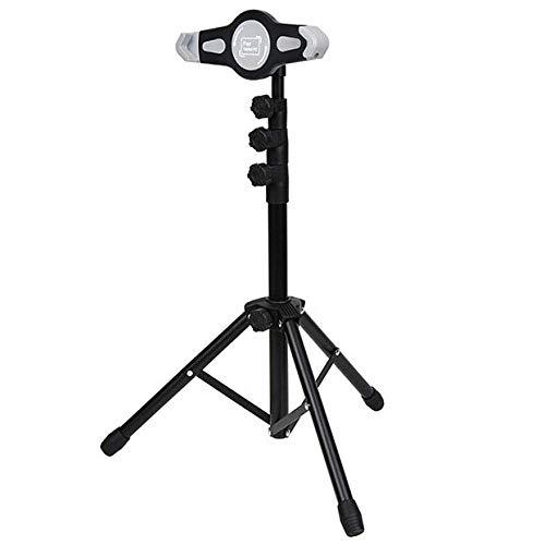 Trípode de hierro para Ipad, altura ajustable 55-145 cm / 21,6-57,1 pulgadas, trípode negro para tableta para conectar con soporte de micrófono, compatible con Ipad, Ipad Pro, Ipad Air, Google Nexus S
