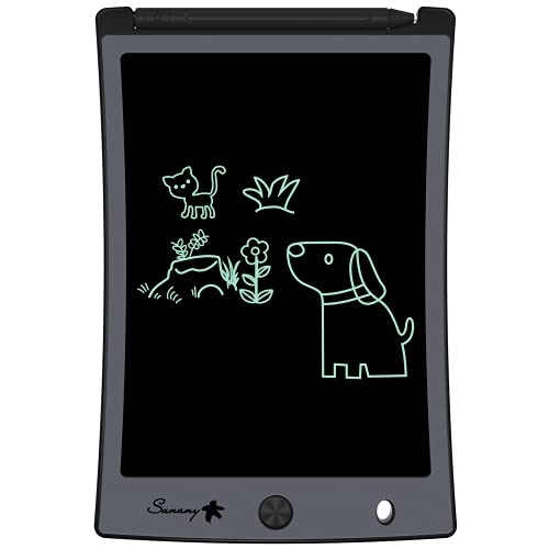 """LCD Writing Tablet,Electronic Writing &Drawing Board Doodle Board,Sunany 8.5"""" Handwriting Paper Drawing Tablet Gift for Kids and Adults at Home,School and Office (Black)"""
