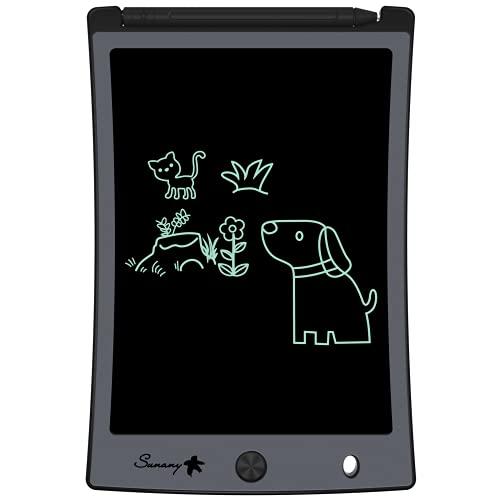 Sunany 8,5 pollici Tavoletta Grafica LCD,Tavoletta da Disegno per Bambini,Lavagna Elettronica Digitale Magica con Funzione Cancellabile,Regali per Bambini,Ufficio per a Casa Della Scuola(Nero)