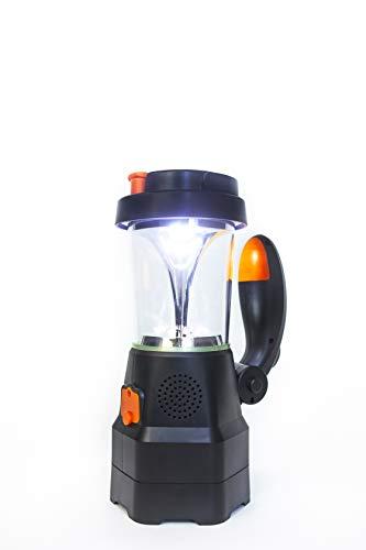 Led Kurbelantrieb-Handscheinwerfer - Zivilschutzlampe 4in1 mit Notfallradio