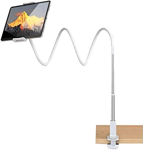 LIDIWEE Gooseneck Tablet Holder, Universal Flexible Tablet Stand Lazy Arm Holder Clamp Bracket Bed Compatible for iPad iPhone,Samsung Galaxy,Nintendo Switch,4''-11'' Tablet Devices