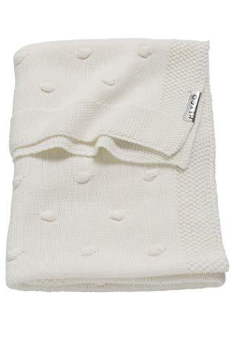Meyco 2733050 Babydecke gestrickt mit Knoten 75x100 cm, weiß