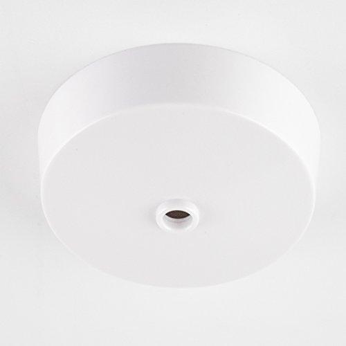 Deckenbaldachin aus Duroplast (Bakelit-Optik) mit Anschlussblock, weiß