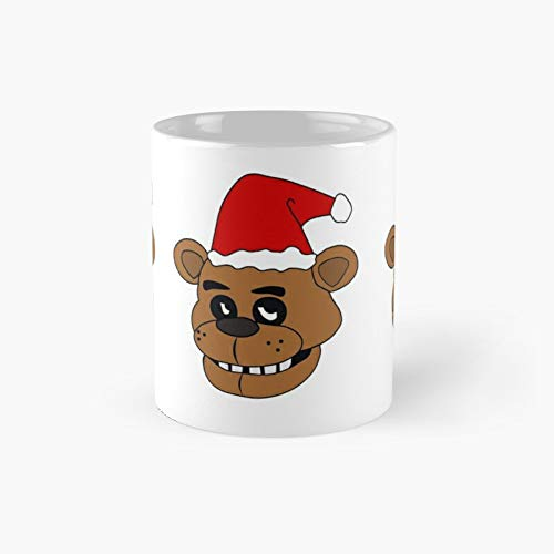 Five Nights at Freddy's Inspired Santa Claus FNAF Freddy Fazbear - Taza de café, diseño de Papá Noel, 325 ml