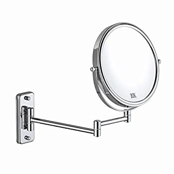 DECLUTTR 8 Inch Wall Mounted Magnifying Mirror with 10x Magnification Double Sided Vanity Makeup Mirror for Bathroom Chrome Finished