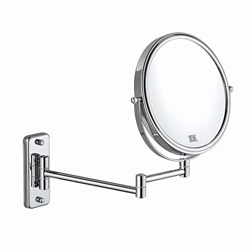 DECLUTTR 8 Inch Wall Mounted Magnifying Mirror with 10x Magnification, Double Sided -