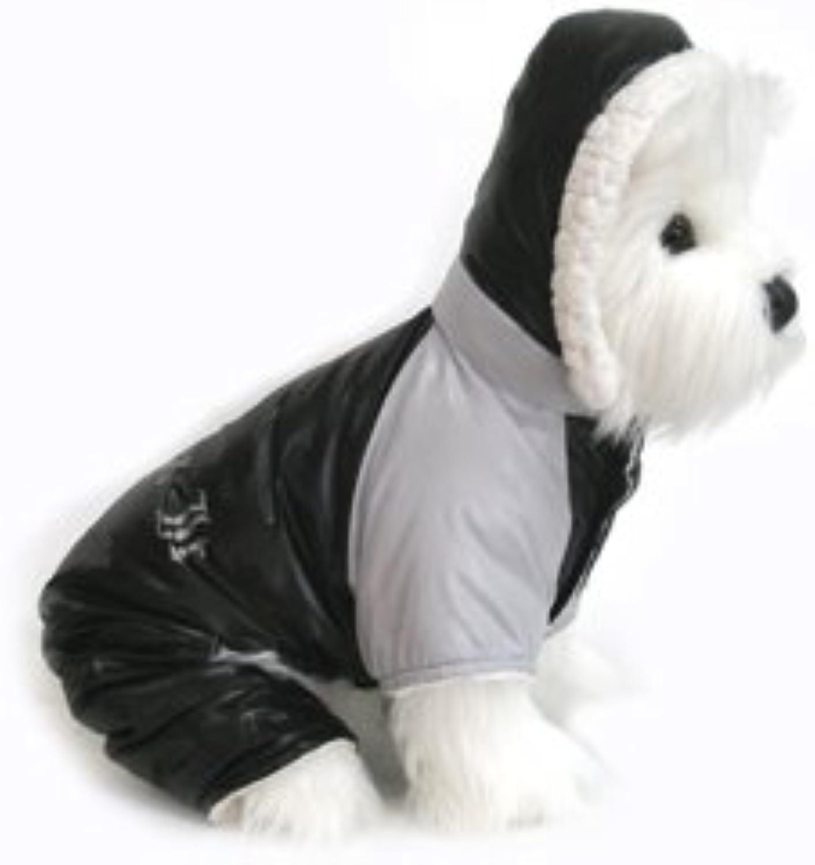 Dog Coat  Ruffin' It Snowsuit  Black & Grey  Small (S) by Doggie Design