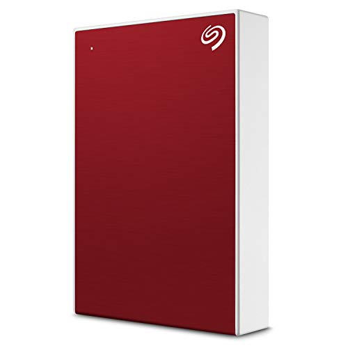 Seagate Backup Plus Portable STHP4000403 Unidad de disco duro externa HDD de 4 TB, USB 3.0 para PC y Mac, 1 año de suscripción a MylioCreate, 2 meses de suscripción a Adobe CC Photography, Rojo