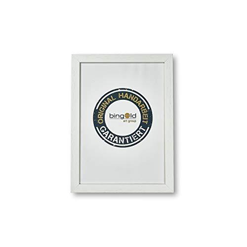Online Galerie Bingold Bilderrahmen Urbino 2,0 Weiß I 30 x 40 cm mit Normalglas (WRF) I handgefertigter Holz Fotorahmen Posterrahmen Urkundenrahmen I Leerrahmen Holz inklusive Montagematerial