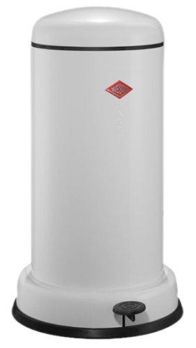 WESCO Abfallsammler Baseboy 20 l Weiss, hochwertiges Stahlblech, Bianco, Inhalt